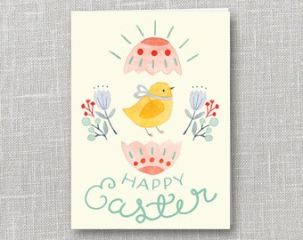 Easter Chick Notecard Instant Download PDF