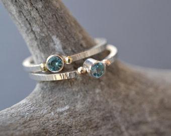 Apatite Stacking Ring/ Alternative Engagement Ring