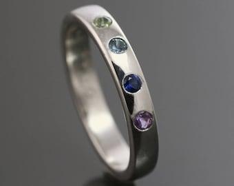 Custom Garden Ring Sterling Silver Amp Natural Gemstone