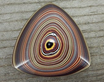 Fordite Cabochon - De-Stash Stone Sale - 29mm Trillion, Jewelry Making Supplies, Cab, Upcycled, Auto Paint Salvaged Material