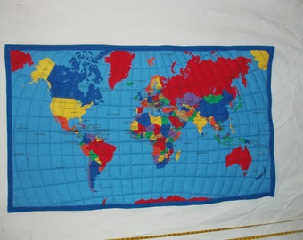 World Map wall Hanging or quilt