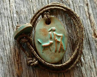 Maggie's Farm Girl Hiker with Trusty Companion Necklace
