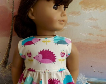 "18"" Doll Dress Cute Bright Hedgehogs NEW Item Will Fit Like AG"