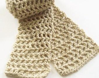 Crochet Scarf Pattern, Instant Download, PDF Crochet Pattern, Skinny Scarf Pattern, Crochet Pattern, Easy Crochet Pattern