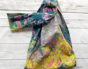 Doll Ring Sling - Doll Sling - Baby Doll Sling - Baby Doll Carrier - Doll Ring Sling - Doll Carrier Wrap - Big Sister Gift - Pastel Batik