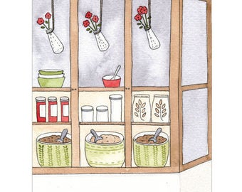 The Local Food Store - Giclee print of original illustration