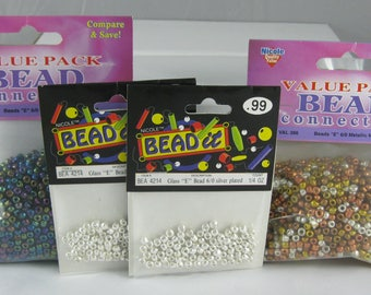 "Glass Beads ""E"", 6/0, Value Packs, Bead It"