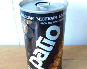 vintage Patio root beer can