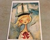 New!  STUDIO DUDA ART mini print/frameable greeting card on velvety bright paper -Adventure - 5x7 print