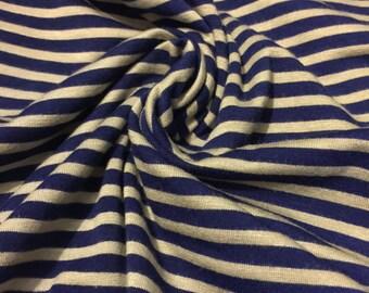 Stretch Jersey Knit Stripe Print