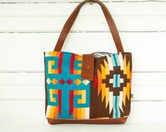 Free Shipping! Ann Tote—Rio Rancho Wool Pattern