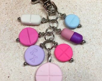 Pill Theme Planner or Purse Charm from My Bead Garden