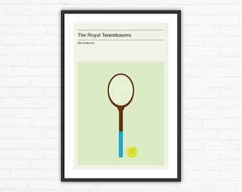 Wes Anderson, The Royal Tenenbaums Minimalist Movie Poster