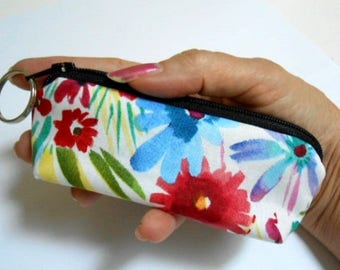Mini Key Chain Zipper Pouch ECO Friendly Padded Lip Balm Case NEW Spring has Sprung