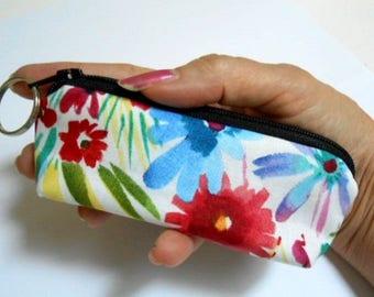 Mini Key Chain Zipper Pouch ECO Friendly Padded Lip Balm Case NEW Spring has Sprung