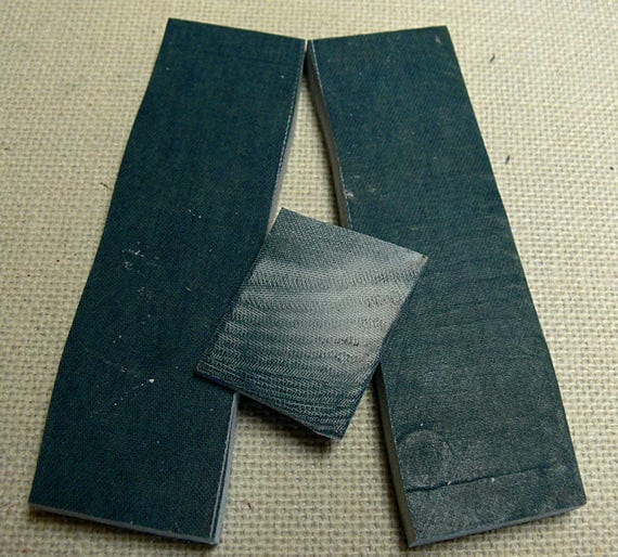 Blue Chambray Laminate Handmade Micarta Pair Knife