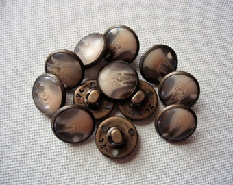Neat Vintage Metalized Plastic Buttons
