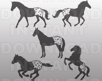 Appaloosa Horses SVG Bundle,Barrel Racing SVG,Western SVG -Commercial & Personal Use- Vector Art for Cricut,Silhouette Cameo,vinyl decal