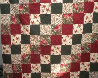 Christmas flannel lap quilt