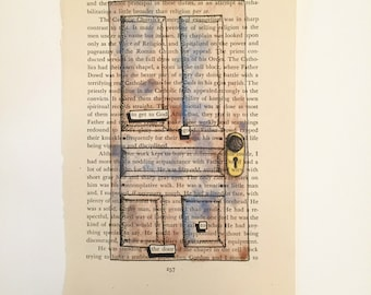 Blackout Poetry (go to the door) Original Artwork & Poem