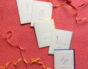 Bundle of Five Birthday Cards