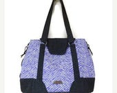 Purple Shoulder Bag, Expandable Tote, Medium Canvas Tote, Medium Shoulder Bag, Purple Fabric Tote, Medium Canvas Bag, Teacher Fabric Tote