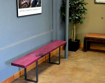 Purple Heart and Steel Bench