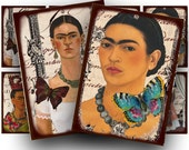 Frida Kahlo collage sheet, a vintage printable digital download no. 1511.