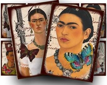 Frida Kahlo collage sheet, a vintage printable digital download no. 1511.