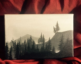 Twin Peaks - Forest 7 - Original painting
