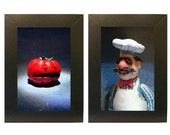 Muppets Framed Photo Set Swedish Chef and Tomato Toys