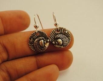 Starry Night Hedgehog Earrings