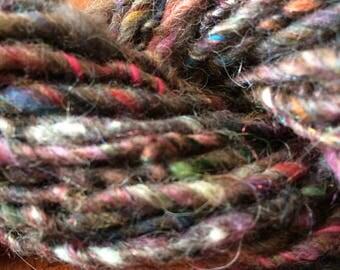 Art yarn made from recycled yarn scraps 29 yards
