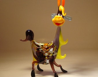 Handmade Blown Glass Art Figurine Farm Animal Comic Funny GOAT Statue