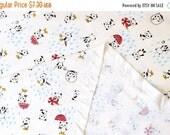 Japanese Fabric Pandas in the Rain - smooth interlock knit - red - 50cm