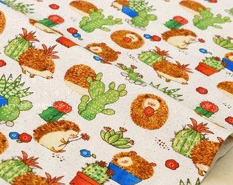 Japanese Fabric - hedgehog cactus - fat quarter