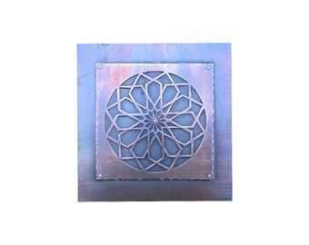 Higher Power Portal, Handcut Copper, Sacred Geometry