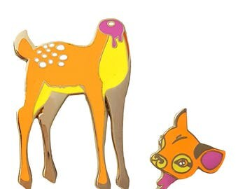 Oh Deer 2-Part Enamel Pin Set