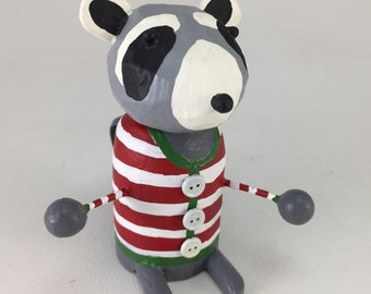 Raccoon in a Holiday Sweater