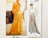 """Vintage 80s Montana Vogue Paris Original Jacket Top and High Waist Pants Pattern Uncut Size 10 Vogue 2450 32.5"""" Bust"""