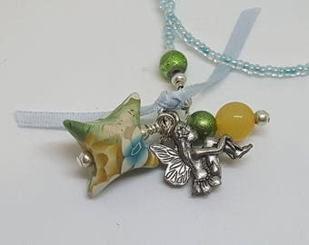 Fairy Pillow Bookmark Charm Polymer Clay Pillow Bead Beaded Floral Book Thong