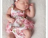 SALE Baby Pattern PDF, Ruffled Baby Romper, Bubble Romper Pattern - boy or girl newborn - 24 months, baby sewing pattern