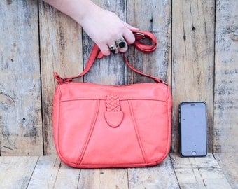 Leather Bag, Red Leather Bag, Leather Shoulder Bag, Red Leather Purse, Women's Leather Bag, Women's Leather Purse