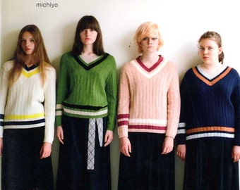 S M L XL Knit Clothes by Michiyo - Japanese Craft Book