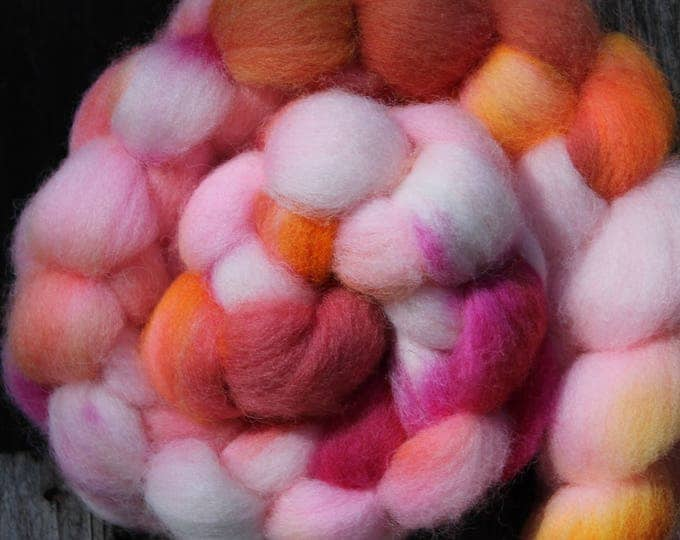 Kettle Dyed Cheviot Wool Top.  Easy to spin. 4oz  Braid. Spin. Felt. Roving. C207