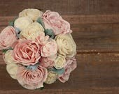Blush pink wedding bouquet, sola wood flower bouquet, wooden flowers, blush wedding bouquet, eco flowers, paper flower, ecoflower bouquet