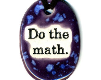 Do The Math Ceramic Necklace in Purple