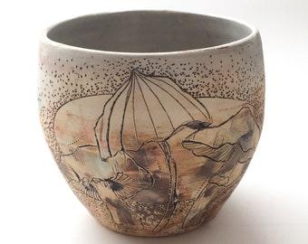 Funghi Landscape Tea Bowl