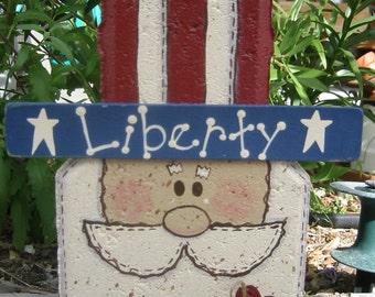 Uncle Sam Decor, Patriotic Decor, Independence Day Decor, Fourth of July Decor, Outdoor Decor, Outdoor Decoration, Garden Decoration