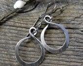 20% OFF Today Lovely Loops - sterling silver hoop dangle earrings